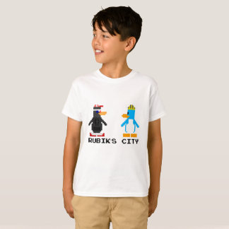 T-shirt La ville de Rubik et les enfants à 8 bits de