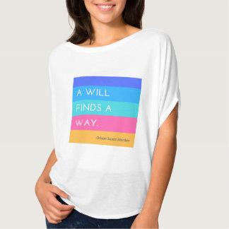 T-shirt La volonté d'A trouve une chemise de manière