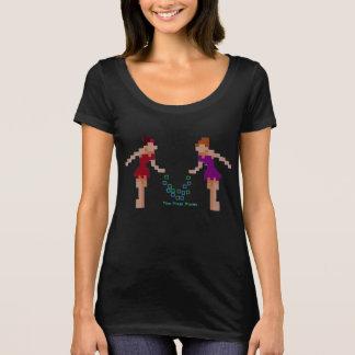 T-shirt La vraie chemise de lutins de pixel d'affaire