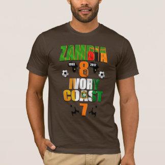 T-shirt La Zambie 1993 les 2012 Afrique soutient les
