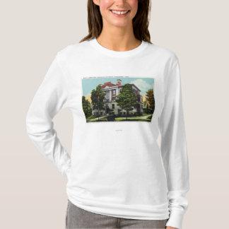 T-shirt Laboratoire de Scott d'université wesleyenne