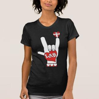 T-shirt LABORATOIRE de signe d'ASL je t'aime (LABORATOIRE)