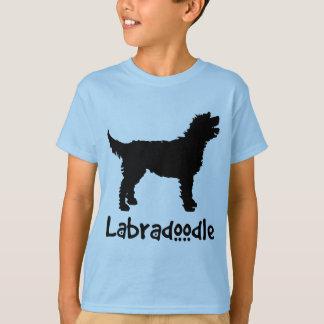 T-shirt Labradoodle avec le texte frais (dans le noir)