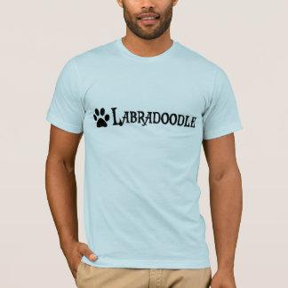 T-shirt Labradoodle (style de pirate avec le pawprint)