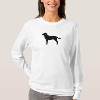 T-shirt Labrador retriever (noir)
