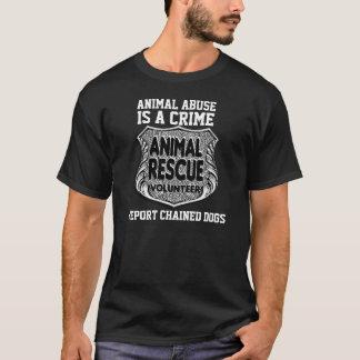 T-shirt L'abus animal est un T-shirt/noir de crime