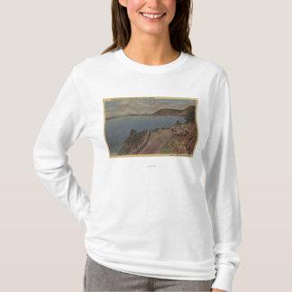 T-shirt Lac supérieur klamath, Orégon - point de