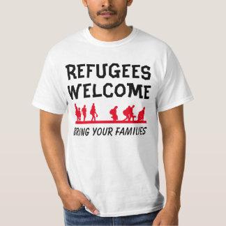 T-shirt L'accueil de réfugiés amènent votre famille