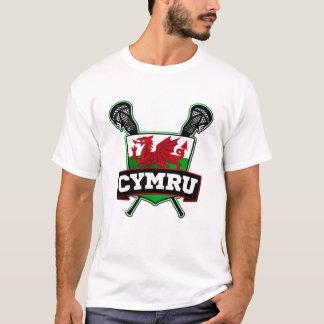 T-shirt Lacrosse du Pays de Galles Gallois