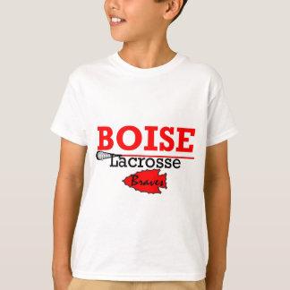 T-shirt Lacrosse élevée de filles de Boise