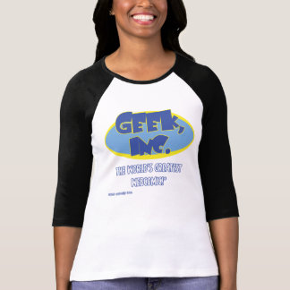 T-shirt Ladies'pièce en t de raglan de Geek, Inc.
