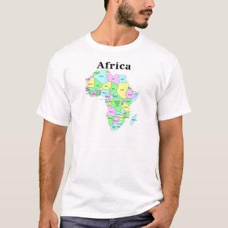 T-shirt L'Afrique - carte politique