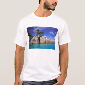 T-shirt L'Afrique, Seychelles, île de Digue de La. Granit