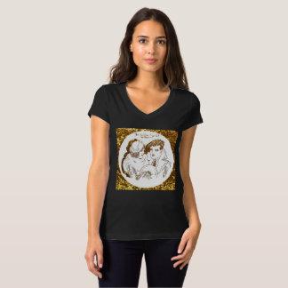 T-shirt L'âge d'or de la chemise noire de Hollywood