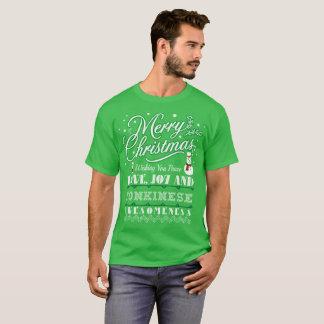 T-shirt laid de chandail de chat de Tonkinese