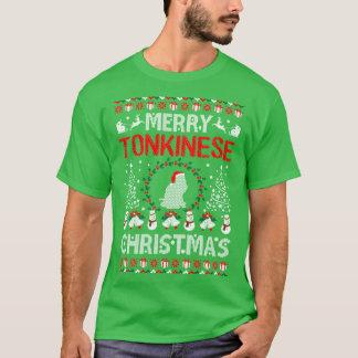 T-shirt laid de chandail de Joyeux de Tonkinese