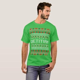 T-shirt laid de chandail de Noël de diététicien