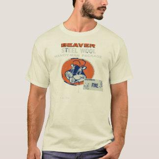 T-shirt Laine en acier de castor