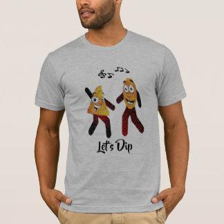 T-shirt laisse la puce de tortilla de danse d'immersion