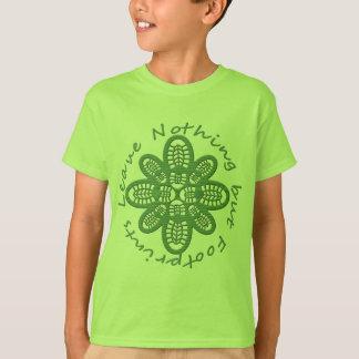 T-shirt Laissez la botte de vert de rien mais d'empreintes