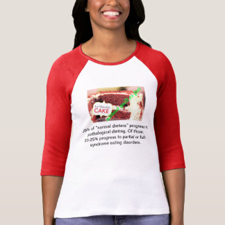 T-shirt Laissez-les manger le gâteau sans culpabilité ou
