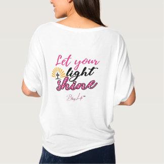 T-shirt Laissez votre éclat léger Bella+Dessus de cercle