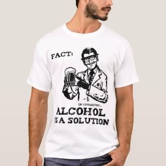 T-shirt L'alcool est une solution en chimie rétro