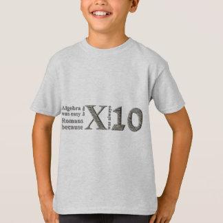 T-shirt L'algèbre était facile pour les Romains parce que…