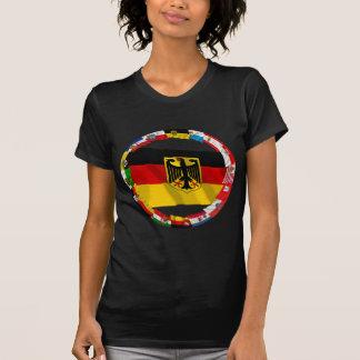 T-shirt L'Allemagne et ses Laender ondulant des drapeaux