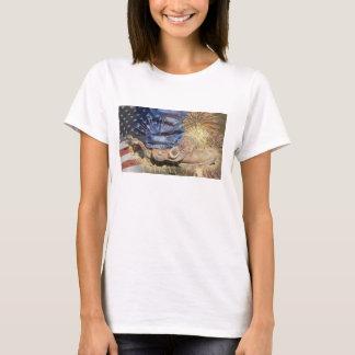 T-shirt L'Amérique - bottes et feux d'artifice