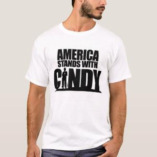 T-shirt L'Amérique se tient avec Cindy