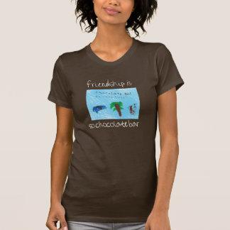 T-shirt L'amitié est ainsi pièce en t de barre de chocolat