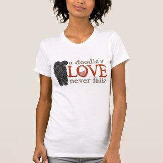 T-shirt L'amour de griffonnage n'échoue jamais -