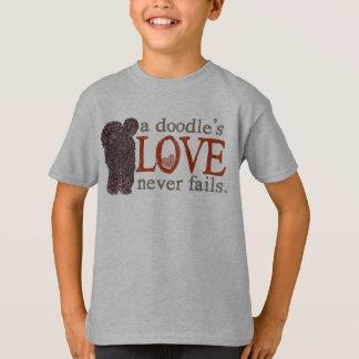 T-shirt L'amour de griffonnage n'échoue jamais - le