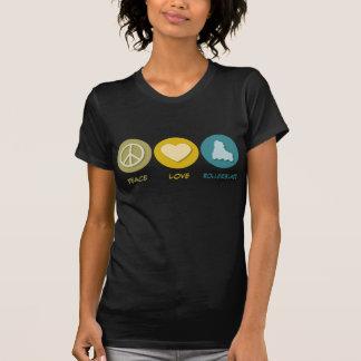 T-shirt L'amour de paix font du roller