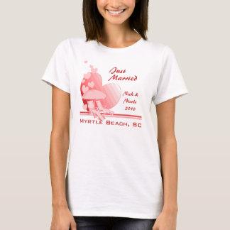 T-shirt L'amour de rivage tropical s'est levé