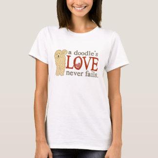 T-shirt l'amour d'un griffonnage n'échoue jamais -