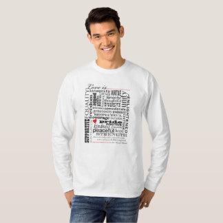 T-shirt L'amour est amour, matière de mots