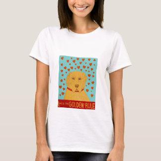 T-shirt L'amour est la règle de Goldens - Stephen Huneck