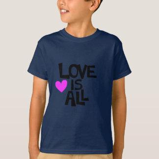 T-shirt L'amour est toute la conception de mots