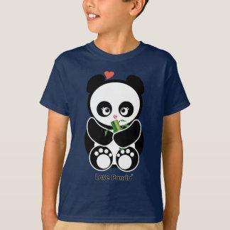 T-shirt L'amour Panda® badine l'habillement foncé