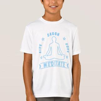T-Shirt L'amour vivant de rire méditent le texte masculin
