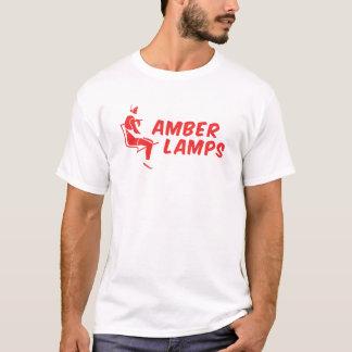 T-shirt lampes ambres rouges