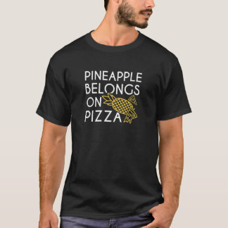 T-shirt L'ananas appartient sur la pizza