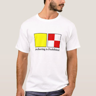 T-shirt L'ancrage est interdit