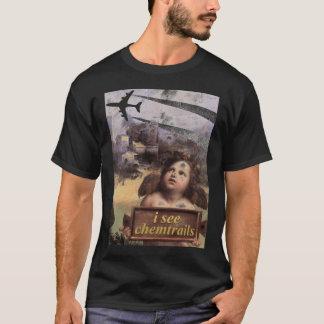 T-shirt L'ange en Madonna de Foligno voit des chemtrails