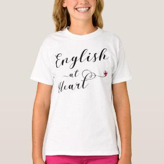T-shirt L'anglais au tee - shirt de coeur, Angleterre
