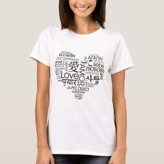 T-shirt Langues de coeur d'amour