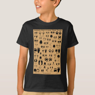 T-shirt L'animal dépiste l'affiche de Pawprints