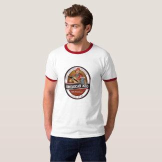 T-shirt L'anneau américain T d'hommes rouges